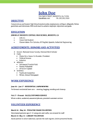 resume templates for junior high students achieving goals together high resume resumes perfect for high students