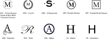 3 initial monogram fonts monogram guide pottery barn