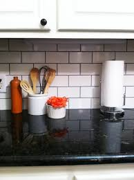 White Subway Tile Backsplash Ideas by We Love This Classic Kitchen Backsplash Using White Subway Tile