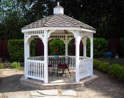 vinyl single roof octagon gazebos gazebos by style future