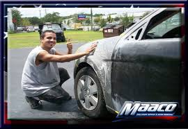 it all started with a big dent in the door maaco dent repair