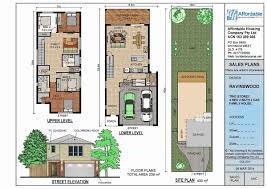 home plans for narrow lot two story house plans narrow lots beautiful house with open floor