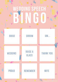 wedding words for bingo wedding speech bingo free printable bespoke wedding