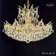 Crystal Ship Chandelier Hight Quality Luxury Unique European Gold Color 12 Light Crown