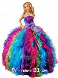 pageant dresses for new style strapless multi color girl pageant dress with
