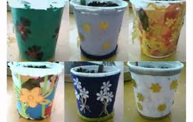 decorate flower pot youtube