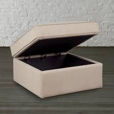 Square Leather Ottoman With Storage Furniture Large Ottoman For Large Space Living Room Design