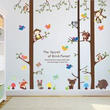 Monkey Nursery Decals Online Get Cheap Forest Animal Wall Decals Aliexpress Com