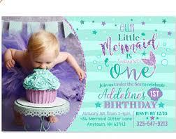 mermaid 1st birthday invitation mermaid invite under the sea