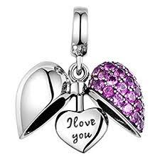 sterling silver crystal heart bracelet images I love you silver heart crystal charm sterling silver 925 jpg