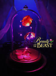 beauty and the beast light up rose beauty and the beast rose enchanted disney gift birthday wedding