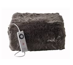 Faux Fur Electric Throw Relaxwell Deluxe Faux Fur Heated Throw U2013 Dreamland