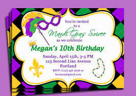 Party Invitation Card Design Mardi Gras Party Invitation Card Design For You Momecard