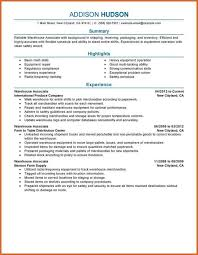 Sample Warehouse Associate Resume by Warehouse Associate Resume Resume Name
