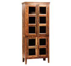 reclaimed wood curio cabinet nantucket reclaimed wood curio cabinet