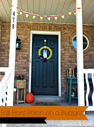 Fall Decorating Ideas On A Budget - halloween fall porch on a budget 30 days of halloween day 25