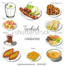 collection cuisine cuisine set collection food dishes stock vector 551643187