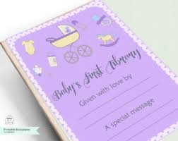 baby bookplate etsy