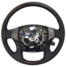 2005 2012 toyota avalon steering wheel new black w woodgrain audio