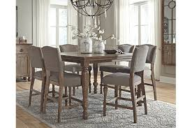 Tanshire Counter Height Dining Room Table Ashley Furniture HomeStore - Countertop dining room sets