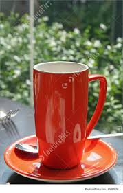 orange coffee mug photo