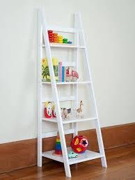 Display Bookcase For Children Ladder Shelf White Or Black Ladder Shelf Mocka Storage Bookcase