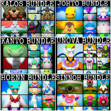 Sinnoh Map Pokemon Regions Bundle Kanto Johto Hoenn Sinnoh Unova