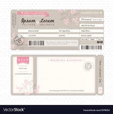 boarding pass wedding invitations boarding pass wedding invitation template vector image