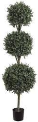 Topiaries Plants - amazon com allstate floral u0026 craft triple ball boxwood topiary