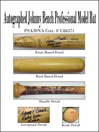 Johnny Bench Autograph Johnny Bench Psa Probatfacts