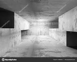 Futuristic Home Interior Concrete Futuristic Room Interior U2014 Stock Photo Versusstudio