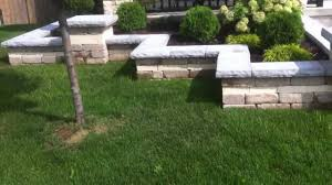 front yard landscaping by london landscape inc retaining wall