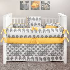 Blue And Yellow Crib Bedding Elephant Grey And Yellow Crib Bedding Yellow Elephant 5