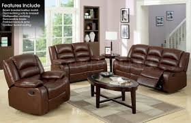 Brown Leather Recliner Sofa Set Beautiful Brown Leather Recliner Sofa Set 90 About Remodel Table