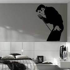 online get cheap wall murals stencils aliexpress com alibaba group classic elvis presley large bedroom wall mural art sticker stencil decal matt vinyl d177