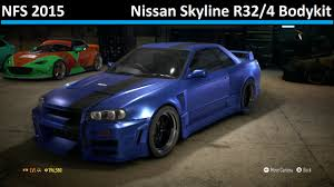 nissan skyline 2015 blue nissan skyline r32 4 bodykit need for speed 2015 r32