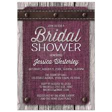 rustic bridal shower invitations shower invitations pink denim wood leather rustic