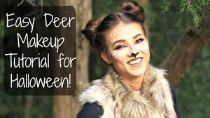 easy deer makeup tutorial for halloween diy madison brooker