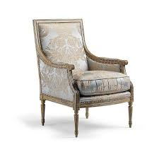 damask chair gray beige damask armchair