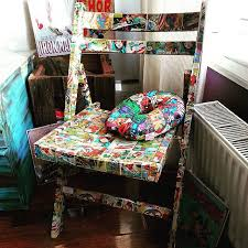 marvel wrapping paper marvel superheroes decoupage upcycle chair using wrapping