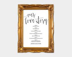 Indian Wedding Vase Story Our Love Story Sign Etsy