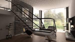steinmauer wohnzimmer haus renovierung mit modernem innenarchitektur schönes