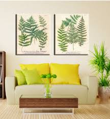fern painting on canvas for home decoration european style spray