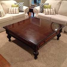 custom glass top for coffee table find more 48x48 coffee table solid wood with a custom glass top for