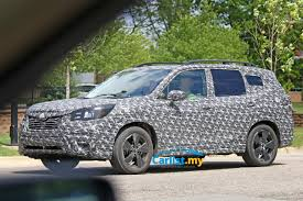 green subaru forester spyshot first look at the all new 2019 subaru forester auto