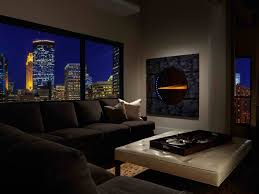decorations wall mount modern fireplace with seating area and tv