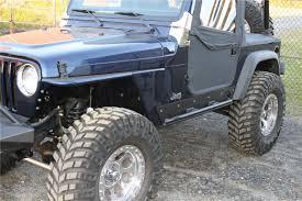 Fours 1997 2006 Jeep Tj Rock Sliders Black