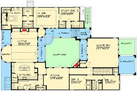 Hidden Home Plans With Courtyards Option Covered Patio At - Home designs with courtyards