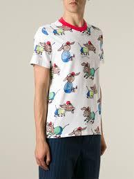 au jour le jour donkey print t shirt in white for men lyst