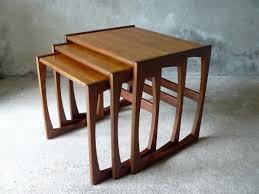 mid century modern surfboard coffee table mid century danish gplan nest of tables by artyfactz on etsy